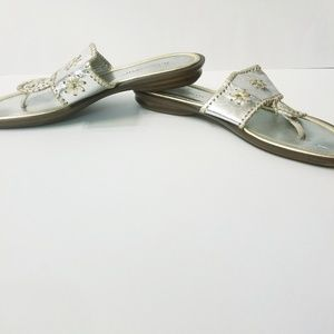 A. Giannetti Shoes - A.Giannett silver and gold sandals size 9.5
